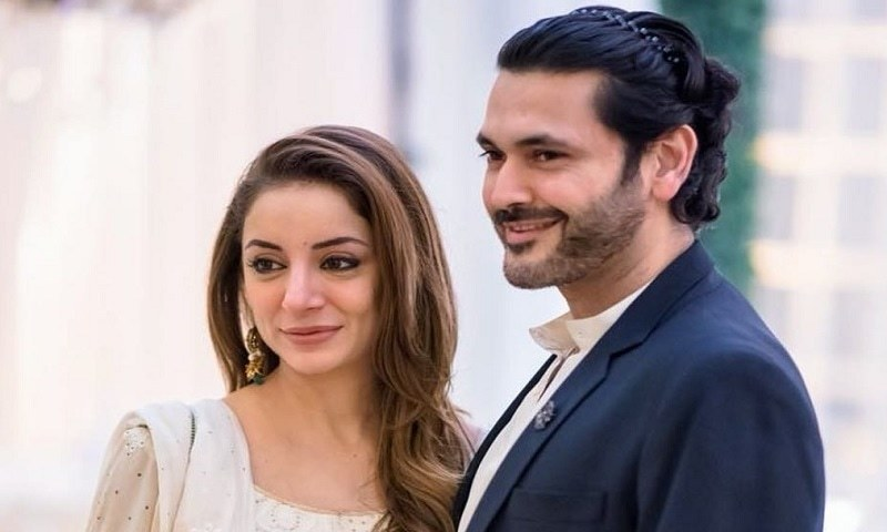Sarwat Gillani and Fahad mirza join protest outside